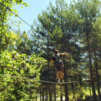 Nou parc d'aventura a la Rectoria de la Selva