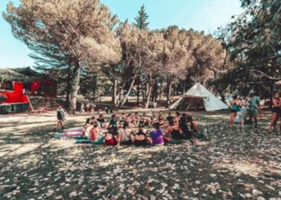 Esplanada casa colònies Porxos Bioritme 2019 -  Font Instagram BioRitme